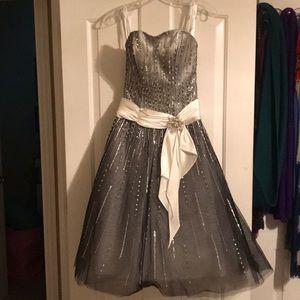 Silver Ombré formal dress